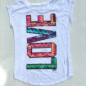 Justice > Girls LOVE Sequence Graphic Tshirt > 7